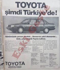 1984 yılından Toyota Corona reklamı