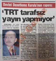 Devlet Denetleme Kurulu'nun raporu: TRT tarafsız yayın yapmıyor