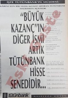 1990 yılından Tütünbank reklamı
