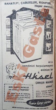 Aksel çamaşır makinesi reklamı