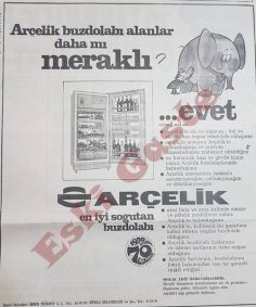 Eski Arçelik Buzdolabı reklamı