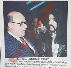 Barış Manço Rauf Denktaş ile birlikte