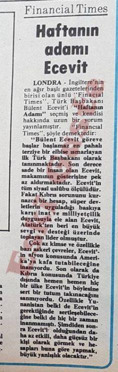 Financial Times: Haftanın adamı Bülent Ecevit