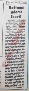 Bülent Ecevit Financial Times