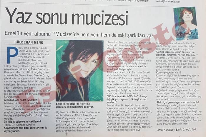 """Emel Müftüoğlu """"Mucize"""" albümü"""