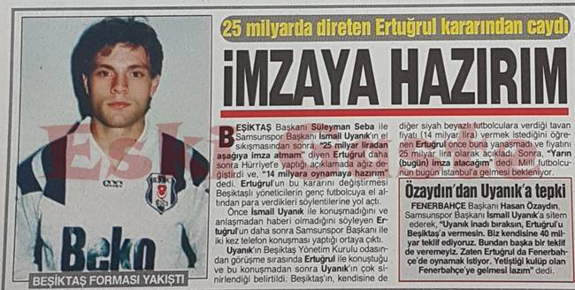 Ertuğrul Sağlam: Beşiktaş'a imzaya hazırım