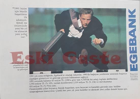 1992 yılından Egebank reklamı