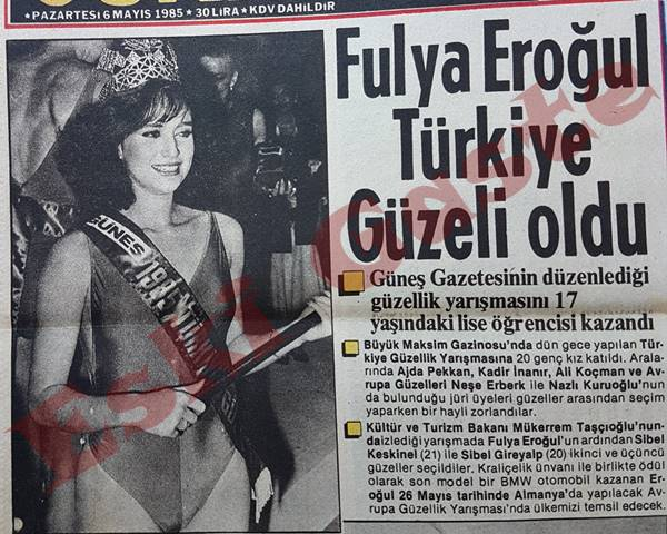 Fulya Eroğul Türkiye Güzeli oldu