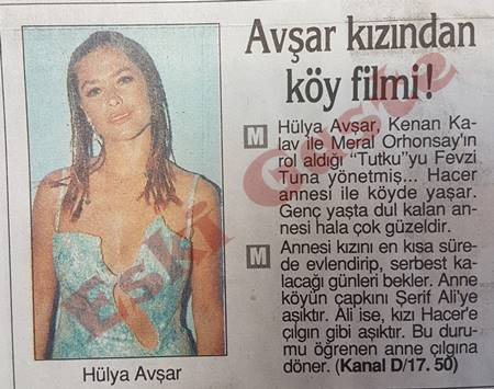 Hülya Avşar'dan köy filmi