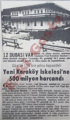 Yeni Karaköy İskelesine 500 milyon harcandı
