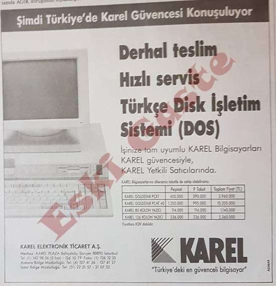 Karel Bilgisayar reklamı