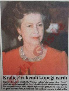 Kraliçe Elizabeth'i kendi köpeği ısırdı