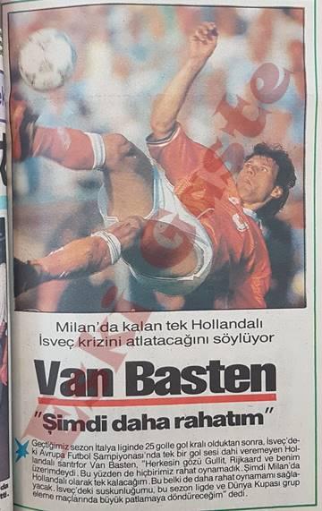 Van Basten: Şimdi daha rahatım