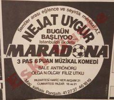 """Nejat Uygur """"Maradona"""" oyunu reklamı"""