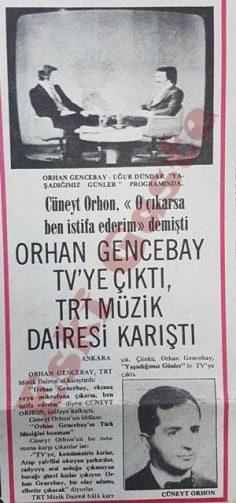 Orhan Gencebay TV'ye çıktı, TRT Müzik Dairesi karıştı