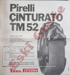 Pirelli Çinturato TM 52 traktör lastiği reklamı