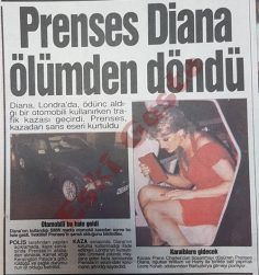 Prenses Diana ölümden döndü