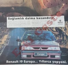 1995 Renault 19 Europa reklamı