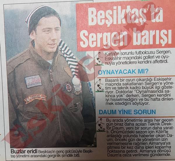 Beşiktaş'ta Sergen Yalçın barışı