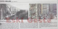 1908 ve 1995 yılından Tepebaşı fotoğrafları