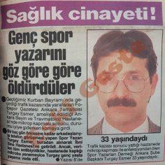Spor yazarı Turgay Esmer hayatını kaybetti