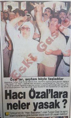 Turgut Özal Hac'da şeytan taşladı