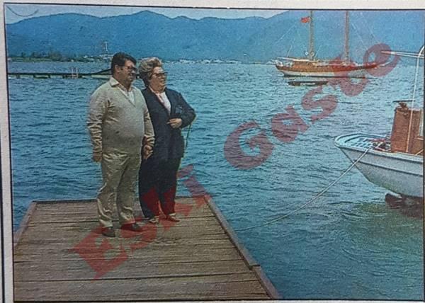 Başbakan Turgut Özal'ın Marmaris tatili
