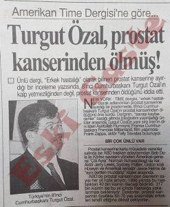 Turgut Özal Prostat Kanseri