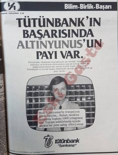 Eski Tütünbank reklamı