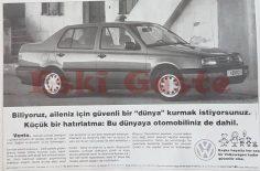 1995 model Volkswagen Vento reklamı