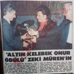 """""""Altın Kelebek Onur Ödülü"""" Zeki Müren'in"""