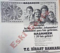 1983 yılından Ziraat Bankası reklamı
