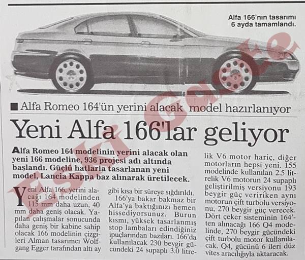Alfa Romeo 166 geliyor