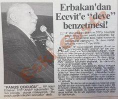 """Necmettin Erbakan'dan Bülent Ecevit'e """"deve"""" benzetmesi"""