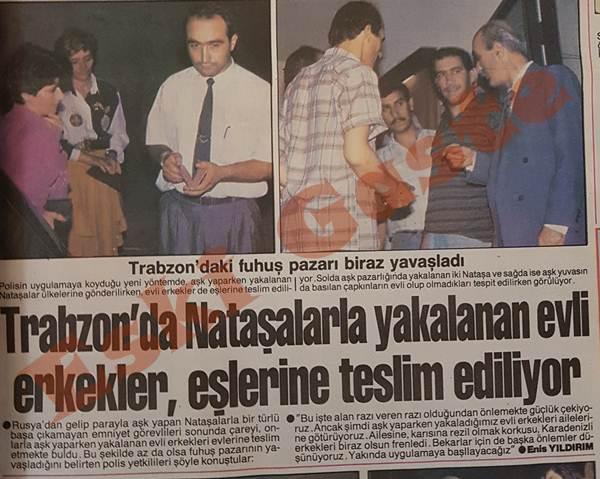 Trabzon'da nataşalarla yakalanan evli erkekler, eşlerine teslim ediliyor