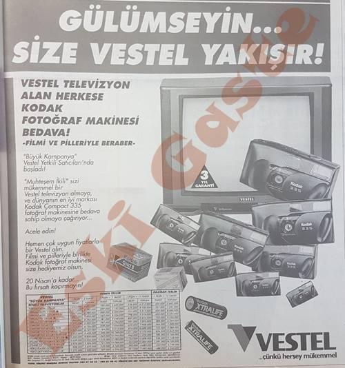 Vestel televizyon alan herkese Kodak fotoğraf makinesi bedava!