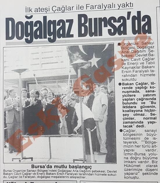 Doğalgaz Bursa'da