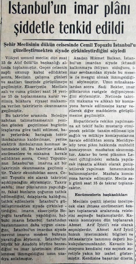 İstanbul'un imar planı şiddetle tenkit edildi