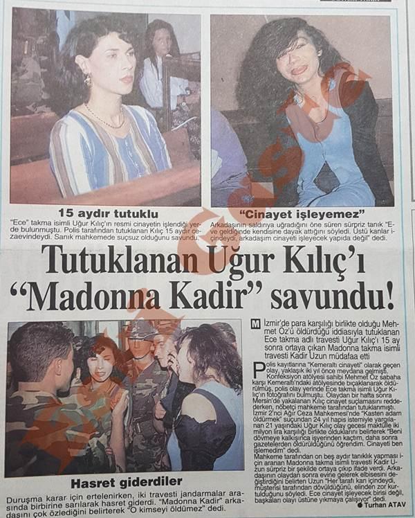 """Uğur Kılıç'ı """"Madonna Kadir"""" savundu"""