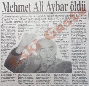 Mehmet Ali Aybar Kimdir
