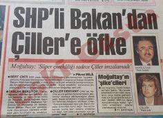 Mehmet Moğultay'dan Tansu Çiller'e öfke