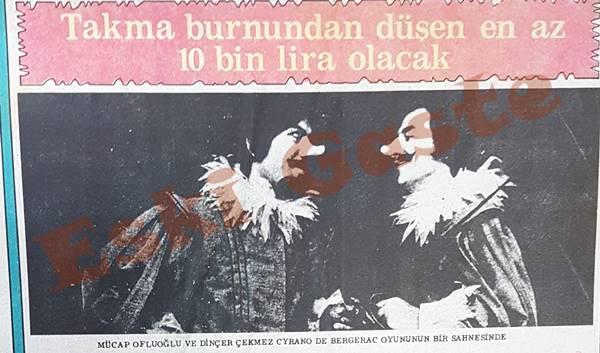 Mücap Ofluoğlu Cyrano oyunundaki takma burnunu açık arttırma ile satacak