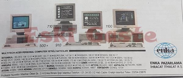 Eski Acer bilgisayar reklamı