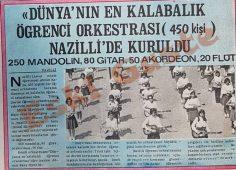 Dünyanın en kalabalık öğrenci orkestrası Nazilli'de kuruldu