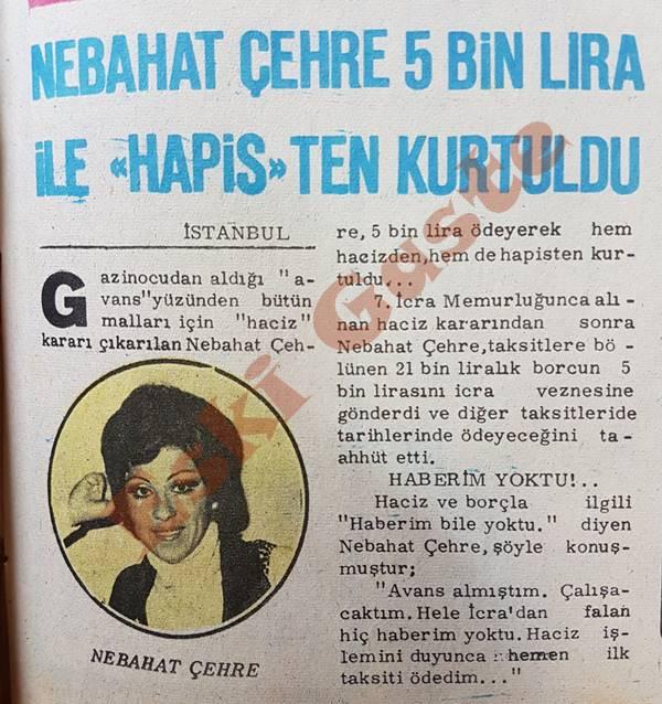 Nebahat Çehre 5 bin lira ile hapisten kurtuldu
