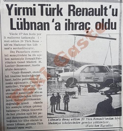 20 Türk Renault'u Lübnan'a ihraç oldu