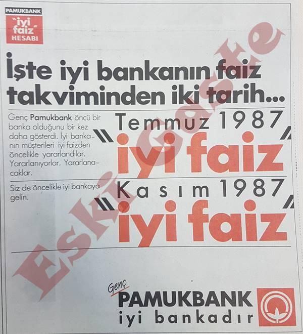 1987'den Pamukbank reklamı