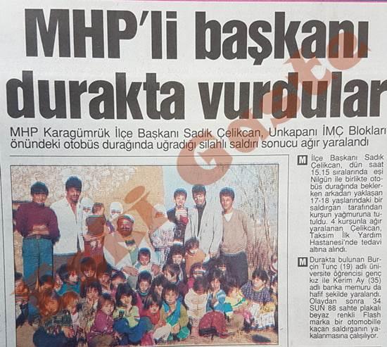 MHP'li Sadık Çelikcan'ı durakta vurdular