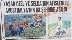 Yaşar Özel ve Selda Bağcan'ın afişleri de Avustralya'nın iki şehrine asıldı