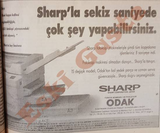 Sharp fotokopi makinesi reklamı